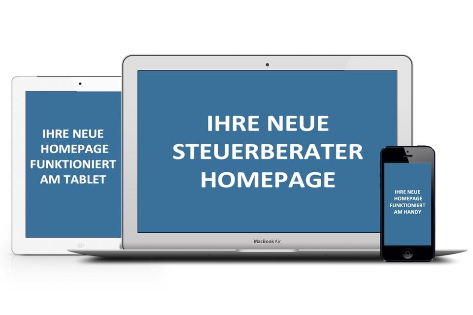 Wir erstellen Ihre neue Steuerberater Homepage und bringen Ihre Steuerberatungskanzlei responsive auf alle Geräte.