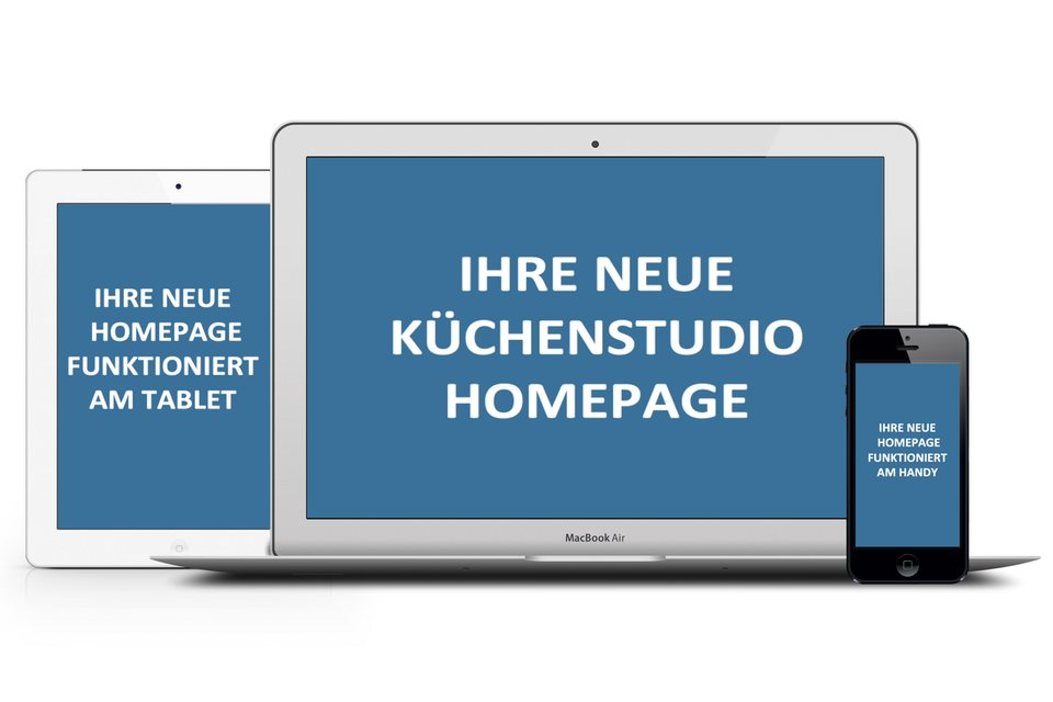 Homepage für Küchenfachhandel und Küchenhändler, wordpress agentur one, wir programmieren und gestalten responsive Websites für Küchenstudios.