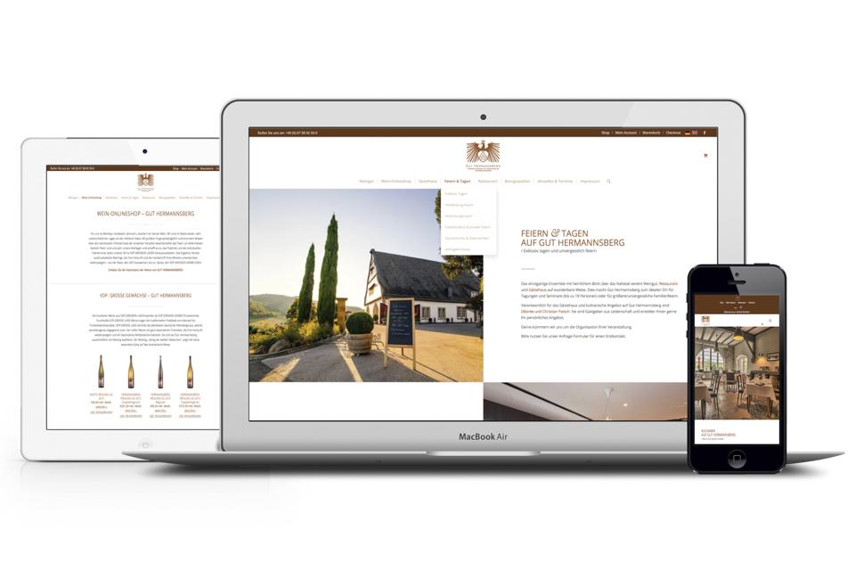 Onlineshop in Wordpress, Programmierung und Gestaltung Weinshop für Weingut.