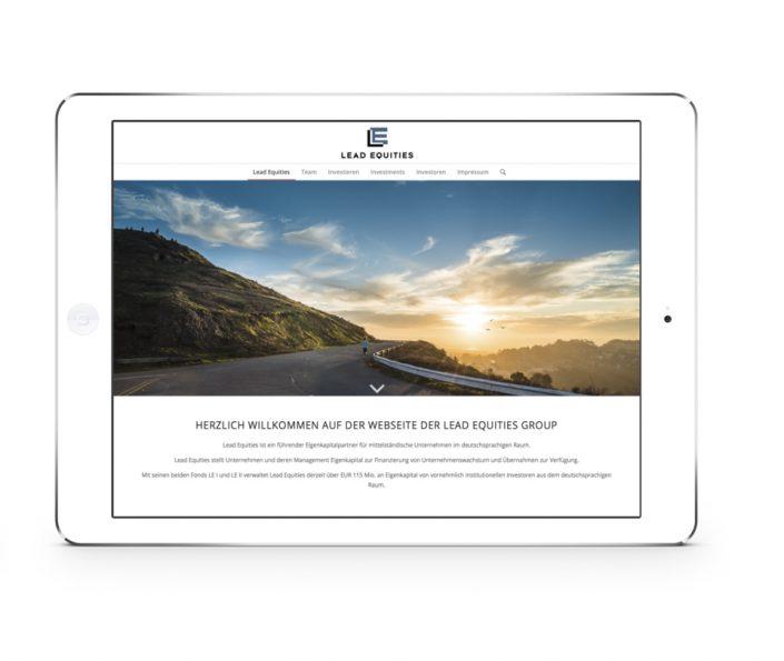 Homepage Programmierung für die Finanzbranche am Beispiel Investment Fond. Wordpress Agentur One, Ihr Partner für responsives Webdesign.