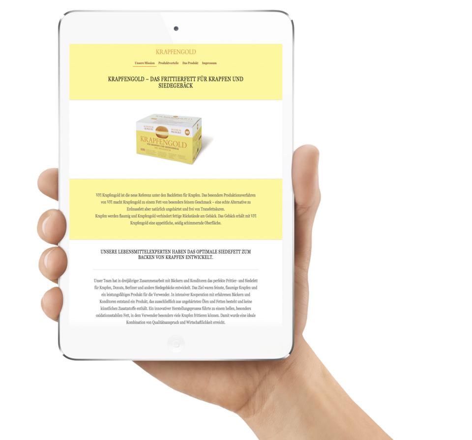 Food Marke Webseite, Referenz für Homepage Entwicklung und Wordpress-Programmierung.