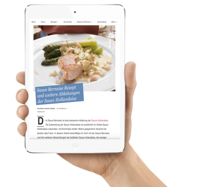 Wordpress programmierung Foodblog. Referenz der Wordpress Agentur one.